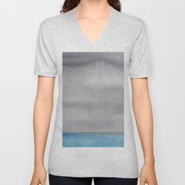 Minimalist watercolor seascape Unisex V-Neck