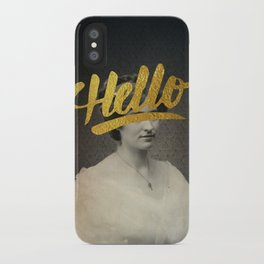 Vintage Quotes Collection -- Hello iPhone Case