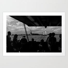 Ferry, Liberty & Silhouettes Art Print