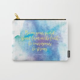 Inspiring Bible Verse, Be Courageous Carry-All Pouch