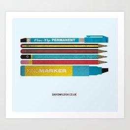 Pencil Collection Art Print