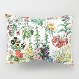 Adolphe Millot - Fleurs A - French vintage poster Pillow Sham
