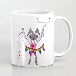 Pride Banner Siamese Cat Coffee Mug