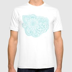 good vibes White MEDIUM Mens Fitted Tee