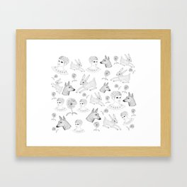 Alice in a Flurry Framed Art Print