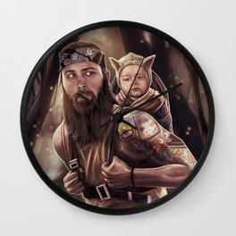 Father and Son Swamp Training Wall Clock