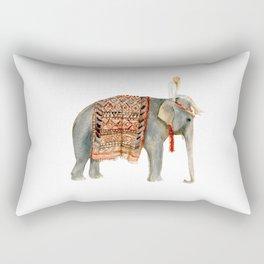 Riding Elephant Rectangular Pillow