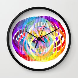 Rainbow Ribbons Wall Clock