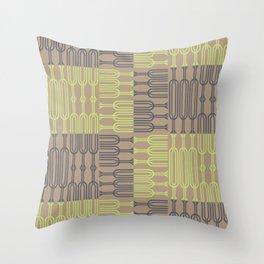 Bosque Gray&LimeGreen Throw Pillow
