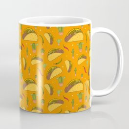 Colourful Tacos Chillies and Cactus Mexican Food Pattern Coffee Mug