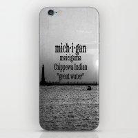 michigan iPhone & iPod Skins featuring Michigan by KimberosePhotography