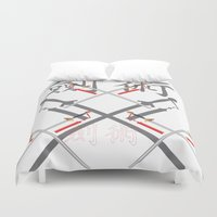 china Duvet Covers featuring China Sword by Littlebell
