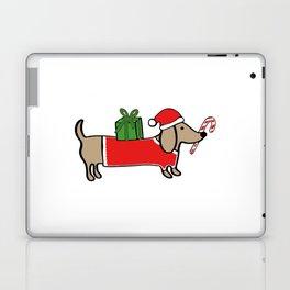 Christmas dachshund Laptop & iPad Skin