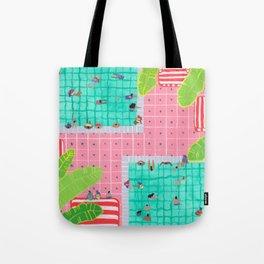 Tropical pink pool Tote Bag