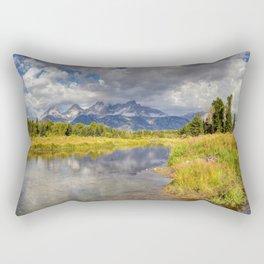 The Grand Tetons Panorama Rectangular Pillow