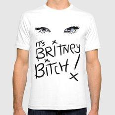 Britney Spears Eyes Mens Fitted Tee White MEDIUM