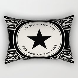 The End Of The Line Rectangular Pillow