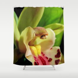 Exotic in Green Shower Curtain