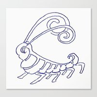 insect Canvas Prints featuring Insect by Abundance