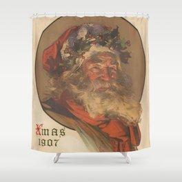 Vintage Santa Claus Illustration (1907) Shower Curtain