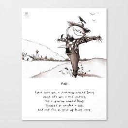 Scarecrow Fall Limerick Canvas Print