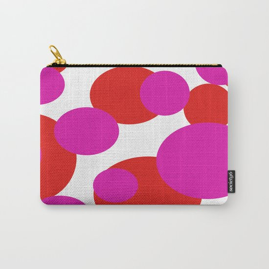 Pink and Red dots  Carry-All Pouch