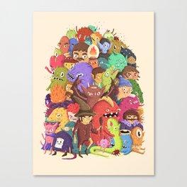 Dogpile Canvas Print