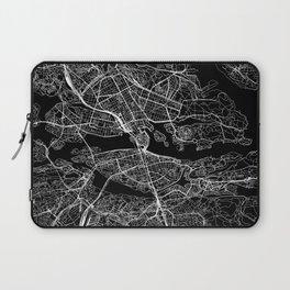 Stockholm Black Map Laptop Sleeve