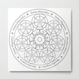 Sir Issac Newton's Philosopher's Stone (b/w) Metal Print
