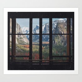 Yosemite Window Art Print
