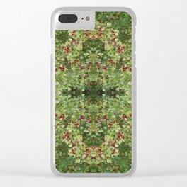 Hawthorn B Fractal Clear iPhone Case