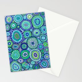 Blue and green Stationery Cards