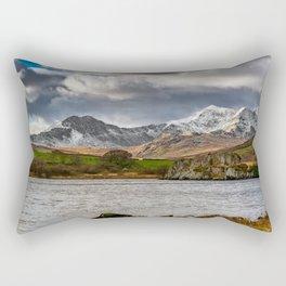 Snowdon Winter Landscape Rectangular Pillow