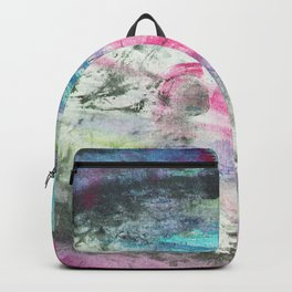 Grunge magenta teal hand painted watercolor Backpack