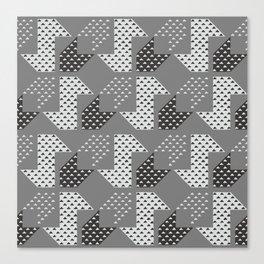 Clover&Nessie Gray/LightGray Canvas Print