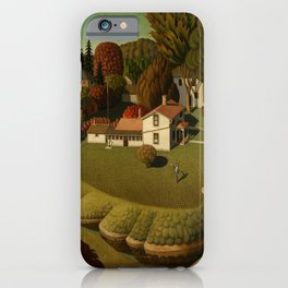 Birthplace of Herbert Hoover, West Branch, Iowa by Grant Wood iPhone Case