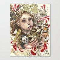 Animal Hugs Canvas Print