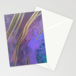 Opal in purple Stationery Cards