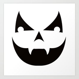 Jack 'O Lantern Halloween Costume Pumpkin Costume Art Print