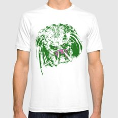 Predator (neon) Mens Fitted Tee SMALL White