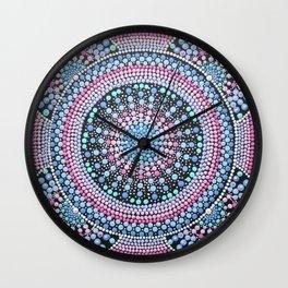 Pink and Blue Mandala Wall Clock