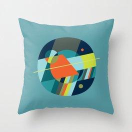 Binaries on Blue Throw Pillow