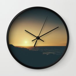 Fistral Beach, Newquay, Cornwall Sun set Wall Clock