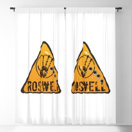 Roswell road sign Blackout Curtain