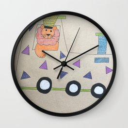 Animal Train Wall Clock
