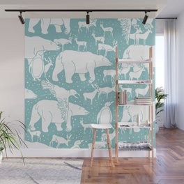 Polar gathering (peppermint) Wall Mural