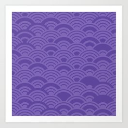 Ultra Violet Color of the Year 2018 Seigaiha seigainami wave of the sea abstract scales Art Print