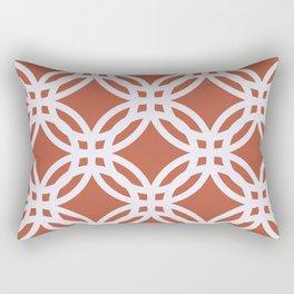 Brick red and white circular pattern Rectangular Pillow