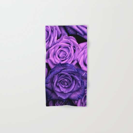 Purple Roses Hand & Bath Towel