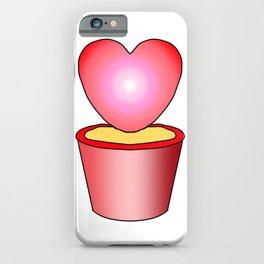 Cute Cactus Love Heart Shape Illustration Vector iPhone Case